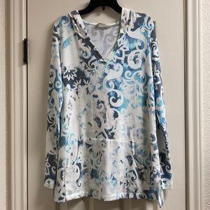 Soft surroundings rosebury pullover hooded top